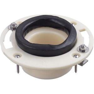 【送料無料】 腰掛大便器用床フランジ 排水管75・100VP/VU対応 三栄 H800-8|suisuimart