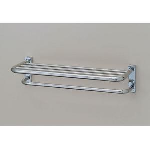 【送料無料】 ステンレス製タオル棚。タオル掛付。洗面所などに最適です。 INAX KF-41D suisuimart