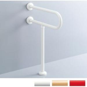 各種施設に ステンレス製大便器用手すり 壁床固定・被服樹脂タイプ LIXIL・INAX KF-525AE60 suisuimart