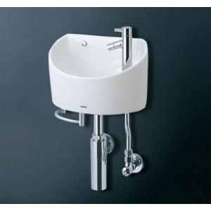 送料無料 かわいい丸形手洗器 TOTO LSH90BAPT タオルバー付|suisuimart