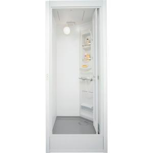 店舗や作業所、簡易施設に。ピットインタイプのシャワーユニット INAX SPP-0808SBEL|suisuimart