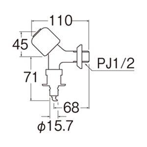 三栄水栓 洗濯機用送り座水栓 オートストッパー付 Y1431CTV-1-13|suisuimart|02