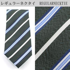 ネクタイ ビジネス シルク100% グリーン ストライプ 31061-325 suit-depot