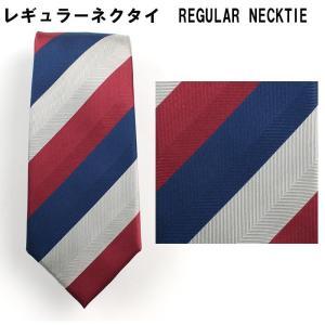 ネクタイ ビジネス シルク100% エンジ ストライプ 31061-417|suit-depot