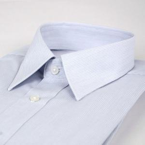 ワイシャツ 長袖 形態安定 レギュラーカラー グレー 無地タイプ 38Z013-14|suit-depot