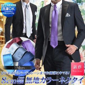 8cm幅 無地カラーネクタイ パーティー ビジネス フォーマル セレモニー モード 結婚式 式典 祭事 ナイトシーン suit-style