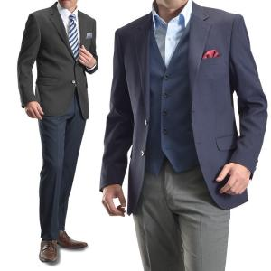 紺ブレザー メンズ ジャケット ネイビー 2ツボタン ビジネス テーラード 紺ブレ ネイビー ブラック|suit-style