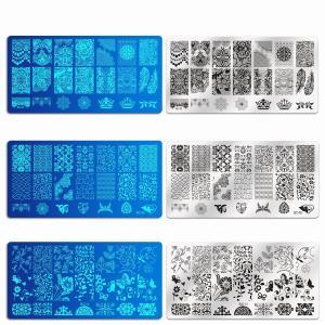 (アッション)Ashion ネイルイメージプレートセット お得な17枚セット(13枚プレート+2スタンプ+2スクレーパー) ネイルステンシル suityuugekka
