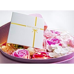 KIZAWA フラワーギフト ソープフラワー 石鹸花 造花 フラワーボックス ラウンド窓付き LEDイルミネーション シャボンフラワー バラ suityuugekka