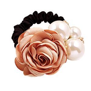(ミニマリ) minimali シュシュ おしゃれ 薔薇 パール ヘアゴム 花 フラワー 結婚式 髪飾り コサージュ ヘアアクセ (04 オ|suityuugekka