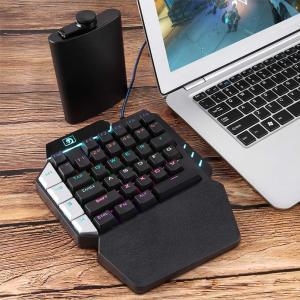 FELiCON 片手キーボード K109 キーパッド 38キー ゲーミングキーボード 片手 左手デバイス メカニカル式 青軸 LED USB|suityuugekka
