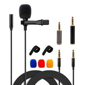 コンデンサーマイク ピンマイク 高音質 ミニマイク クリップ iPhone/iPad/Android/pc/カメラ 対応 収納ポーチ付属|suityuugekka