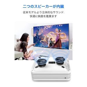プロジェクター 小型 LED 1080PフルHD対応 2400ルーメン スピーカー内蔵 HDMIケー...