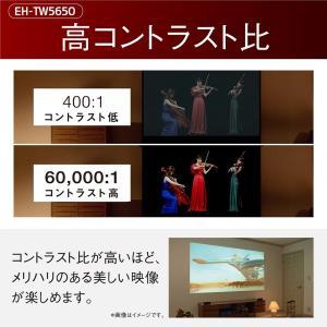 EPSON dreamio ホームプロジェクター 2500ルーメン 60000:1 1080P フルHD 無線LAN内臓 EH-TW5650|suityuugekka