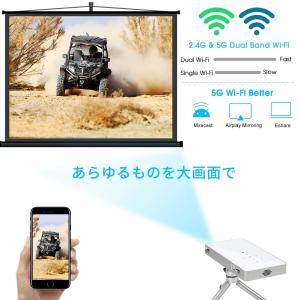 PTVDISPLAY ピコポケットミニプロジェクター、1080P WifiシアタースマートビデオDlpプロジェクターサポートAndroid|suityuugekka