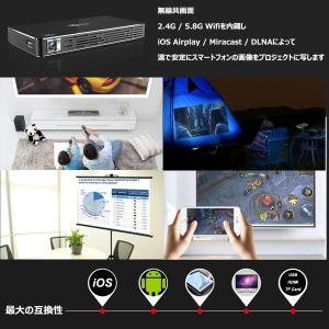 ミニプロジェクター Android 7.1 スマートワイヤレス DLP 台形補正 ハイルーメンLEDプロジェクター2.4G / 5.8Gダブ|suityuugekka