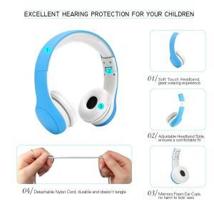 ヴィートKPTEC折りたたみ式子供用ボリューム制限ヘッドフォンイヤホンマイクを使ってfor Children ブルー HP10002BL|suityuugekka