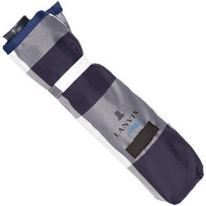 (ムーンバット) MOONBAT ランバンオンブルー 折りたたみ傘(骨が自動で開閉するクイックアーチ式) カチオンジャカード チェック柄 2|suityuugekka