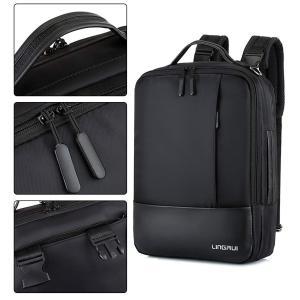 Liberty-Z 3way メンズ リュック ビジネス バッグ ショルダーバッグ PCバッグ 手さげ 多機能 15.6インチ (ブラック-|suityuugekka