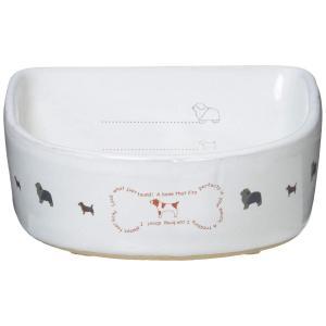 ペティオ (Petio) 陶器食器 犬用 メモリ付 ボーン S サイズ|suityuugekka