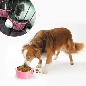 UEETEK ペットボウル ハンガー ゲージ用 ペット食器 餌入れ ヘルスウォーターボウル 猫 犬 うさぎ 小動物用 食器 固定|suityuugekka