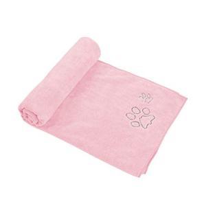 Winthome ペット用タオル 犬 猫 ボディータオル マイクロファイバー 吸水 速乾 犬体拭き用タオル 大判 (ピンク)|suityuugekka