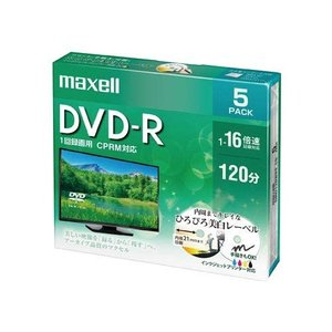 maxell 録画用 DVD-R 標準120分 16倍速 CPRM プリンタブルホワイト 5枚パック DRD120WPE.5S|suityuugekka