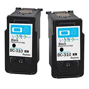 生きカラー キャノン(Canon) 対応 BC-310XL リサイクル インクカートリッジ ブラック...
