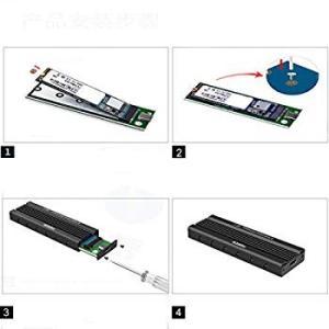 FIDECO M.2 SSD ケース Type-C to NGFF M.2 アダプタ SATA B ...