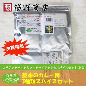 お買得品 基本のカレー用3種類 スパイスセット 100g×3種類 本格的