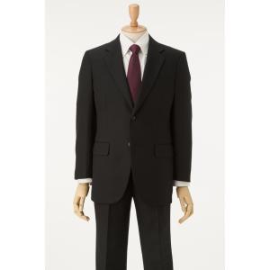 メンズ礼服フォーマルスーツオールシーズン A、AB、BB体ブラック スーツ 2ボタン2タック  ゆったりシルエット アジャスター付き|sukipio