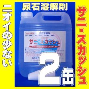 尿石除去剤 業務用 サニスカッシュ 4リットル 2缶 無臭 トイレつまり