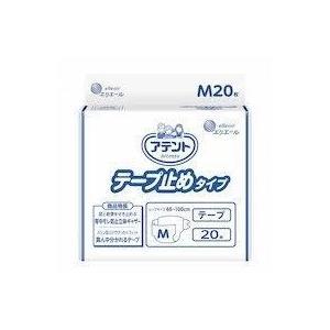アテント 介護用おむつ テープ止めタイプ Mサイズ 20枚×4パック【ケース販売】|sukoyaka-shop