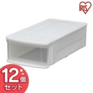 チェスト プラスチック 白 クリア 1段 アイリスオーヤマ タンス 衣類収納 収納 12個セット IL|sukusuku