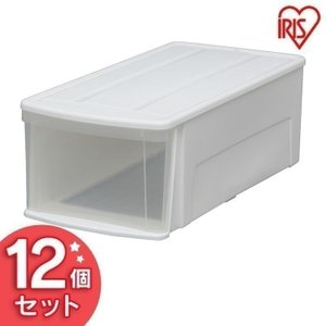 チェスト プラスチック 白 クリア 1段 アイリスオーヤマ タンス 衣類収納 収納 12個セット ILD|sukusuku