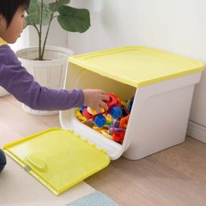 おもちゃ箱 おもちゃ 収納 おもちゃ収納 キッズ フラップボックス FLP-MK 3個セット アイリスオーヤマ ミッキー ミニー フタ付き 収納 (disney_y)|sukusuku|03