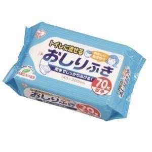 おしりふき ウェットティッシュ トイレに流せる 大容量 70枚入 アイリスオーヤマ|sukusuku