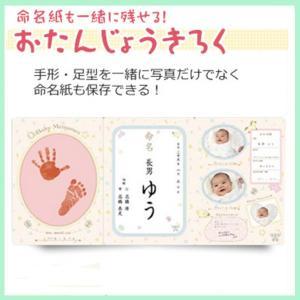 おたんじょうきろく 命名紙セット ギフト メモリアル バースデイ 出産祝い 内祝い お祝い 手形 足形 誕生日