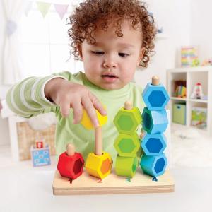 カウンティング スタッカー E0504 Hape ハペ 知育玩具 ままごと おもちゃ 男の子 女の子 木製玩具 ドイツ玩具メーカー|sukusuku