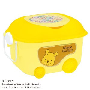 くまのプーさん 窓付きおもちゃ箱  イエロー ピップ (disney_y)  ディズニー 錦化成|sukusuku