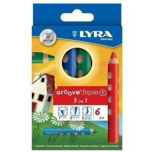 色鉛筆 色えんぴつ お絵かき 塗り絵 ぬり絵 画材道具 6色セット かき方色鉛筆 リラ グルーヴトリ...