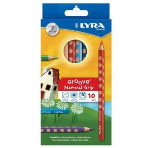 色鉛筆 色えんぴつ お絵かき 塗り絵 ぬり絵 画材道具 リラ グルーヴ 10色