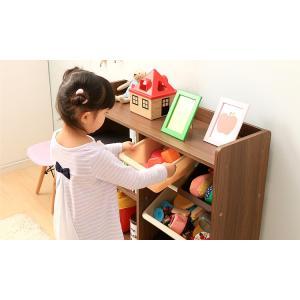 おもちゃ 収納 おもちゃ箱 トイハウスラック おもちゃ収納 収納ボックス 本棚付トイハウスラック 絵本棚 子供部屋収納 HTHR-34 アイリスオーヤマ|sukusuku|03