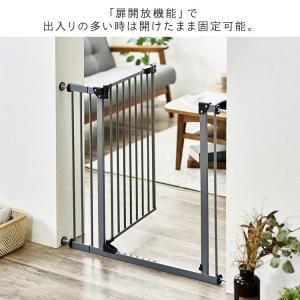 ベビーゲート とおせんぼ 階段 階段下 赤ちゃん 柵 おしゃれ 白 ホワイト ペットゲート フェンス 拡張フレーム スチール 突っ張り つっぱり 子供|sukusuku|12