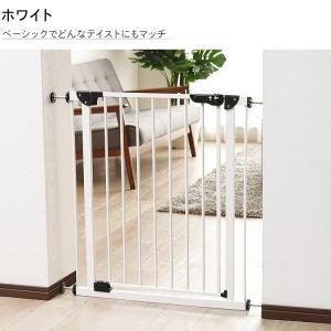 ベビーゲート とおせんぼ 階段 階段下 赤ちゃん 柵 おしゃれ 白 ホワイト ペットゲート フェンス 拡張フレーム スチール 突っ張り つっぱり 子供|sukusuku|16