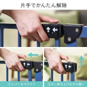 ベビーゲート とおせんぼ 階段 階段下 赤ちゃん 柵 おしゃれ 白 ホワイト ペットゲート フェンス 拡張フレーム スチール 突っ張り つっぱり 子供|sukusuku|09