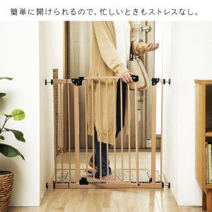 ベビーゲート とおせんぼ 階段 階段下 赤ちゃん 柵 おしゃれ 白 ホワイト ペットゲート フェンス 拡張フレーム スチール 突っ張り つっぱり 子供|sukusuku|10