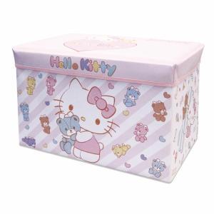 おもちゃ箱 ハローキティ ストレージボックス おもちゃ 収納 子ども部屋 子ども部屋収納 おもちゃ収納 88-708  (D)|sukusuku