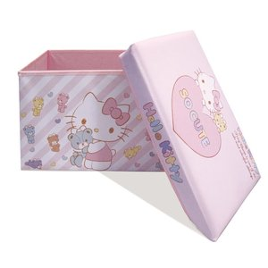 おもちゃ箱 ハローキティ ストレージボックス おもちゃ 収納 子ども部屋 子ども部屋収納 おもちゃ収納 88-708  (D)|sukusuku|02