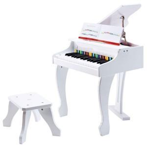 はじめてのグランドピアノに。 白の清楚なピアノはかわいいピアニストにぴったりです。 30鍵盤の電子ピ...